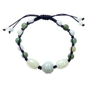 Jewelry - Jade Cord Bracelet Lotus Yoga Bracelet
